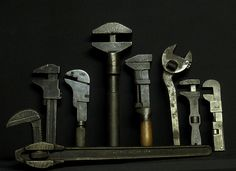 old and antique wrenches