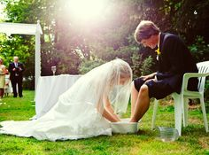 As much as I HATE feet, I would love to wash each others feet at my wedding. Commit to serve.