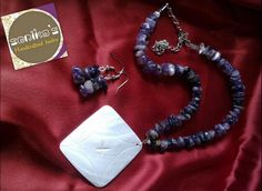 Shell Nklace with Lapis Lazuli stones...