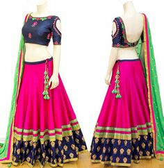 Rani Pink Festival Wear Chaniya Choli
