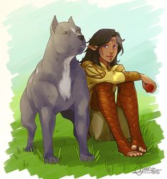 It's finished, the thank you picture for fileundermiscellany - you helped tremendously with your beta-thoughts  Her adorable Elissa Cousland with her new Mabari pup :3  Up...