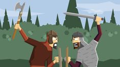 Vikings for kids- How did they right? An Anglo-Saxon warrior fights a Viking warrior in armed combat. Home Learning, Learning Resources, History Class, World History, Vikings Ks2, Vikings For Kids, I Love School, British, Viking Warrior
