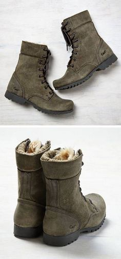 Olive boots