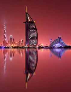 """Dubai """"Galaxy Reflections"""" by Marek Kijevský . Dubai is the most populous city in the United Arab Emirates . Amazing Buildings, Amazing Architecture, Famous Buildings, Building Architecture, Modern Buildings, Landscape Architecture, Architecture Design, Voyage Dubai, Places To Travel"""