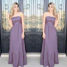 Esse vestido longo é simplesmente P.E.R.F.E.I.T.O!!!!!! Peça coringa para o dia e para a noite... #weloveanames #dressdesejo #springsummer2017 #tudolindo #longdress
