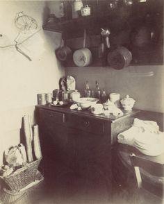 Cuisine by Eugène Atget, ca 1910 Eugene Atget, Paris 1900, Old Paris, Musee Carnavalet, Berenice Abbott, Artist Project, Paris Ville, Bnf, French Photographers