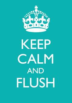 Keep Calm and Flush Poster on Imposters | Imposters.in | Buy Posters Online