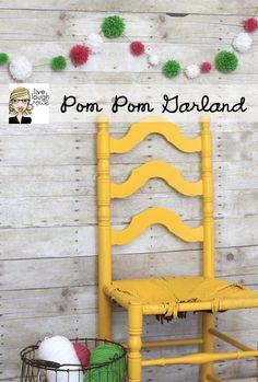 DIY Pom Pom Garland with livelaughrowe.com