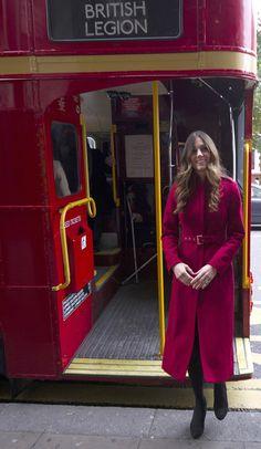 Kate Middleton - Kate Middleton Rides the Poppy Bus in London