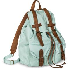 Mossimo Supply Co. Solid Backpack Handbag Mint ($20) ❤ liked on Polyvore featuring bags, backpacks, green bags, rucksack bag, day pack backpack, mossimo backpack and mossimo