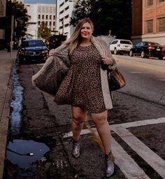 Plus Size Leopard Dress Outfit