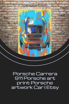 Porsche canvas print. Expressive art for you home office or garage. Great fathers days gift! Man Cave Garage, Garage Art, Modern Art Prints, Wall Art Prints, Canvas Prints, Porsche Carrera, Kids Room Wall Art, Nursery Wall Art, Foil Art