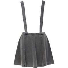 River Island Grey acid wash dungaree skater skirt ($15) ❤ liked on Polyvore featuring skirts, bottoms, saias, dresses, sale, acid wash skirt, flared denim skirt, elastic waist denim skirt, elastic waist skirt and gray skirt