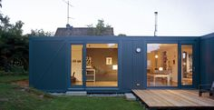 Beautiful L shaped house; Modular Living Space with Nice Interior : Lovely L House Shape Froom Recycled Container And Sustainable Materials