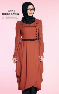 Like the cut Hajib Fashion, Moslem Fashion, Modesty Fashion, Fashion Idol, Fashion Dresses, Turkish Fashion, Islamic Fashion, Girl Hijab, Hijab Outfit