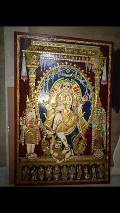 Natraj Tanjore painting with dashavatar Tanjore Painting, Paintings, Traditional, Frame, Home Decor, Art, Picture Frame, Art Background, Decoration Home