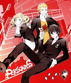 Persona 5 Akira Kurusu, Ann Takamaki, Ryuji Sakamoto