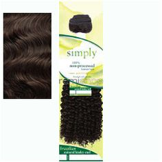 "Fri May 6, 2016 - #4: Simply Brazilian Natural Kinky Curl 12"" - Color NBLK - Unprocessed Weaving"