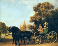 Own a print of A Gentleman driving a Lady in a Phaeton from the National Gallery Collection. Hand Painted Canvas, Canvas Art, Canvas Prints, Jane Austen, The National, National Gallery, Ledoux, Art Uk, Equine Art