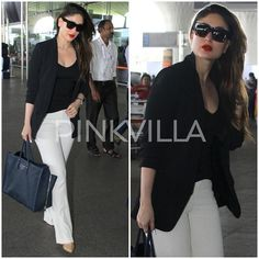 The Trends that Matter – 10 Bollywood Celebs Who have Rocked the Pantsuit Indian Celebrities, Bollywood Celebrities, Bollywood Fashion, Bollywood Actress, Western Dresses, Western Outfits, Western Wear, Indian Outfits, Kareena Kapoor Pregnant