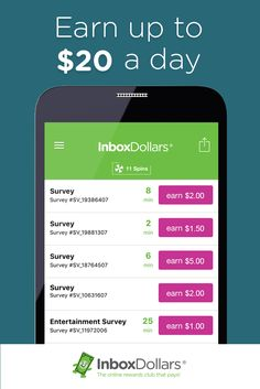 InboxDollars Online Rewards club - Earn cash for taking surveys, watching videos, shopping online, clipping coupons, and more!  Earn up to $5 per survey and up to $20 per day.  Join the millions of other InboxDollars members and get a $5 bonus when you signup today