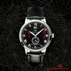TRICK OR TREAT | HAPPY HALLOWEEN 2015 AUTRAN & VIALA OPERA | quarzwatch for men with fine stainless steel case and swiss Ronda movement | fine leather strap