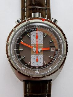 Breitling Pupitre Bullhead Chronograph c. 1975