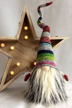 Scandinavian Tomte Nisse Original Nordic Gnome Woodland Santa