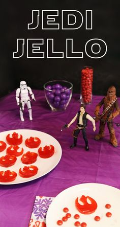 """Create themed treats for your Star Wars Digital Movie Collection Viewing party with """"Jedi Jello"""" created out of Star Wars themed molds. The possibilities are endless!"""