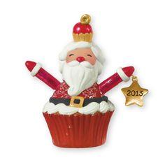 Santa Cupcake Keepsake Ornament Special Offer | Hallmark Stores