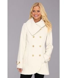 White Wool Winter Coat | Down Coat