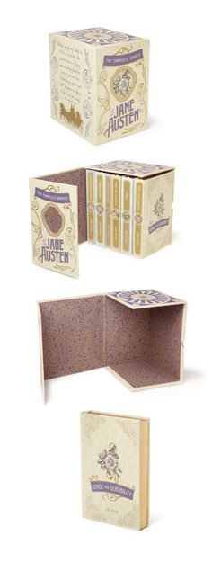 Jane Austen Box-set with magnetic lid case. Design by Ian Shimkoviak/theBookDesigners