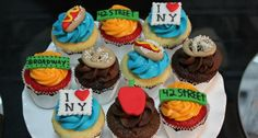New York City themed party cupcakes