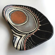 x x A large heavy platter with design signifying multiple generational connections Price includes shipping within Australia Pottery Painting, Ceramic Painting, Ceramic Art, Glazes For Pottery, Ceramic Pottery, Evans Art, Hand Built Pottery, Keramik Vase, Sgraffito