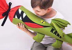 Schultüten - Schultüte frecher Drachen - ein Designerstück von josefines-kinder bei DaWanda