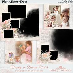 Beauty in Bloom Photo Mask Templates Vol.8 By Indigo Designs