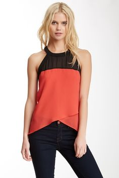 BLVD Two-Tone Tank by Assorted on @HauteLook