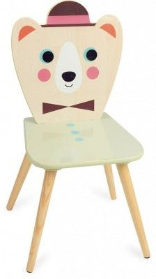 A wooden child chair by VILAC. The color of the seat is soft yellow (doesn't match the color on the picture) An eyecatcher for your kidsroom or livingroom, mix and match with the matching chairs and table. Designed by Ingela. Kidsroom, Kids Furniture, Beer, Chair, Design, Home Decor, Awesome, Link, Products