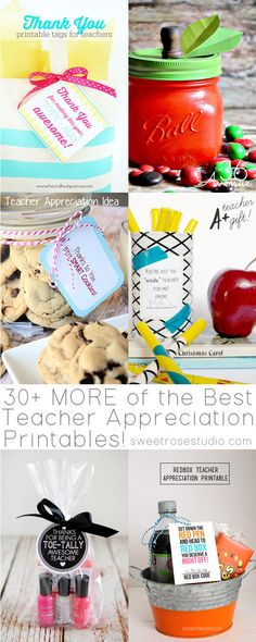 30 MORE of the Best Teacher Appreciation Printables at Sweet Rose Studio