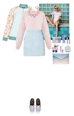 """Unicorn style"" by eliza-redkina ❤ liked on Polyvore featuring Wildfox, Manon Baptiste, Balmain, Rebecca Minkoff, Anastasia Beverly Hills, In Your Dreams, Lancôme, Too Faced Cosmetics and Thalia Sodi"