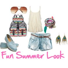 "Summer of Style outfit inspiration day #7 ""Summer Teal"" by theycallmet on Polyvore"