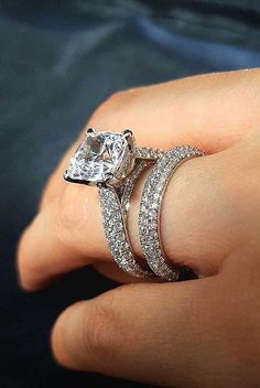 36 Great Bands And Wedding Rings For Women That Admire ❤️ wedding rings for women solitaire white gold pave band ❤️ See more: http://www.weddingforward.com/wedding-rings-for-women/ #weddingforward #wedding #bride #engagementrings #weddingringsforwomen