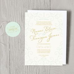 Eloquent Romance Wedding Invitations - Wedding Invitations - Wedding | Smitten on Paper