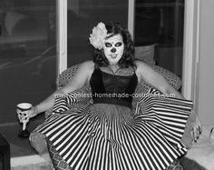 Dia De Los Muertos Costume -- Striped Skirt! Perfect!