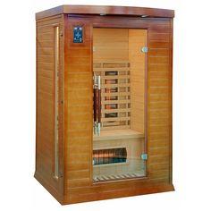Niewielkich rozmiarów sauna na podczerwień, zmieści się w niemal każdym domu, przeznaczona dla 2...
