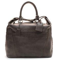 Louis Vuitton Anthracite Bequia Leather Mini Grimaud Travel Bag