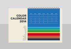 Color Calendar by zofia szostkiewicz