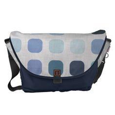 Blue Dots Messenger Bag