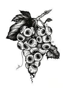 Creepy Drawings, Dark Art Drawings, Art Drawings Sketches, Tattoo Sketches, Tattoo Drawings, Arte Grunge, Psychedelic Drawings, Dark Tattoo, Tattoo Flash Art