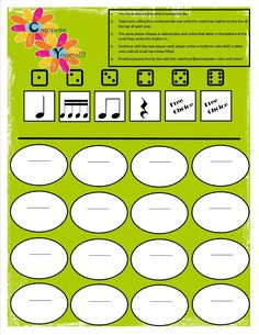 Another one for composing with Boomwhackers with the colored dice I mentioned in an earlier post (scroll down to see other uses for these!):...